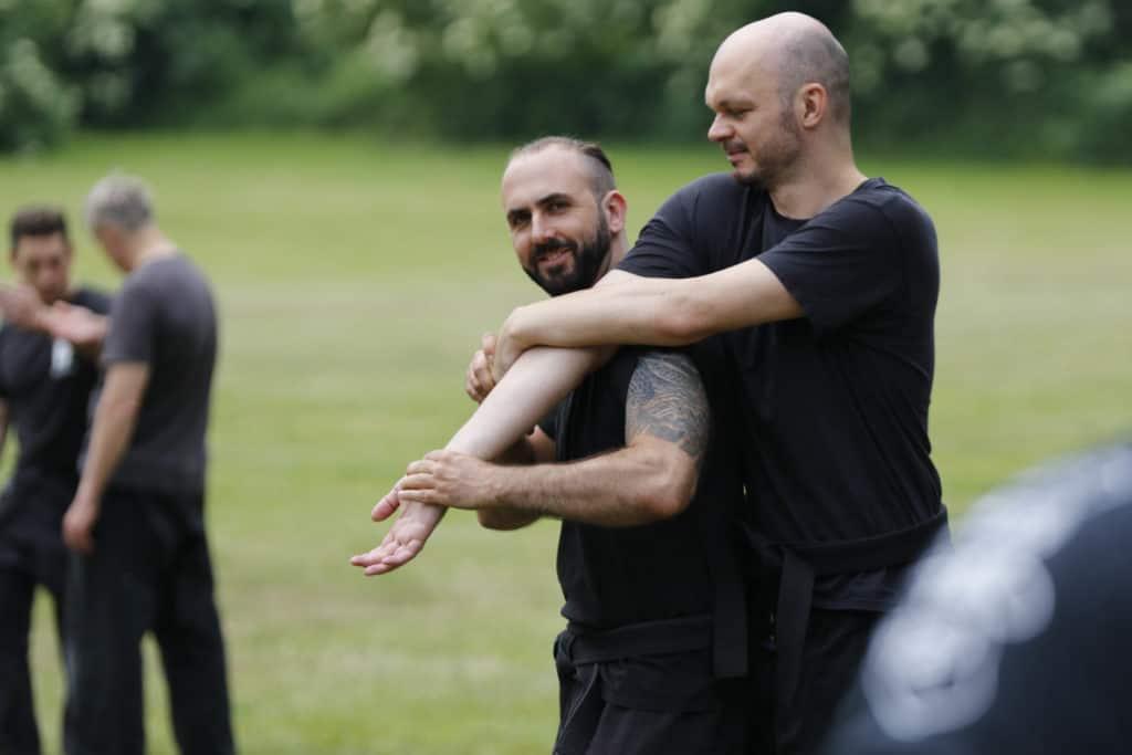Florian und Steffen beim Training