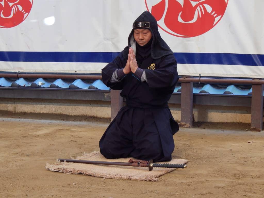 Ninjutsu-Vorführung in Iga, Japan