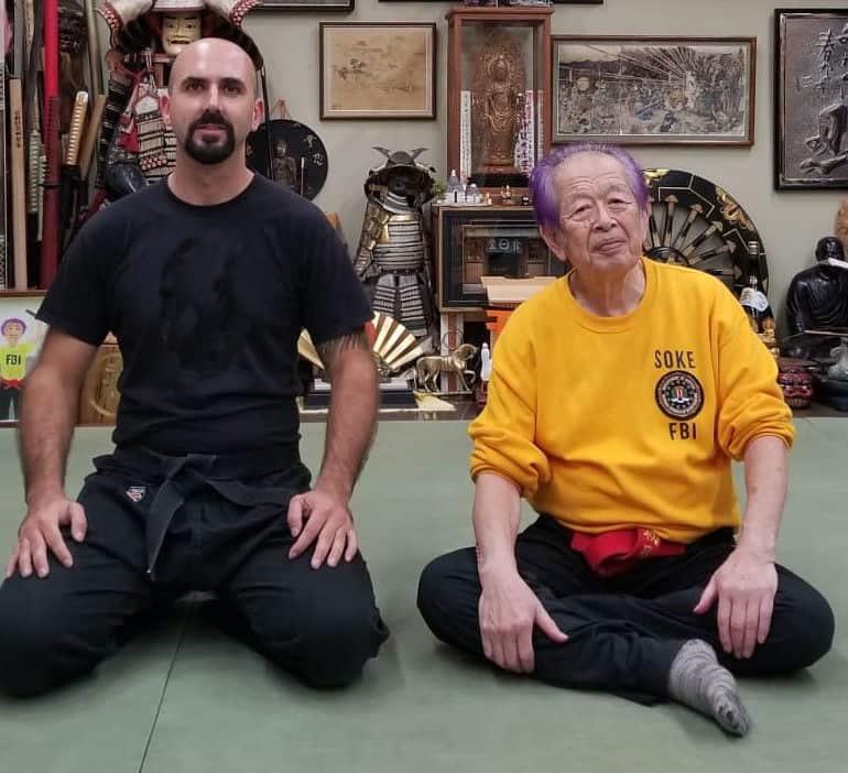 Florian mit Soke Masaaki Hatsumi